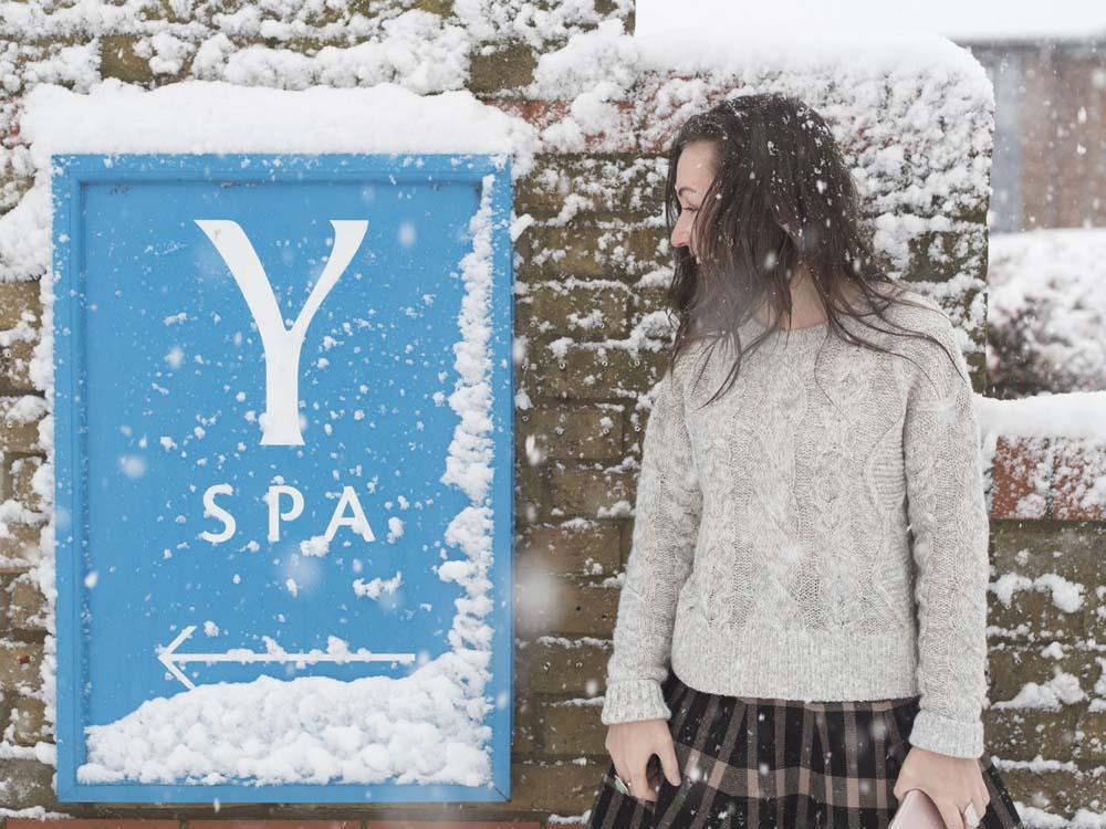 Finding ways to destress with a day at Y Spa! (In the snow)