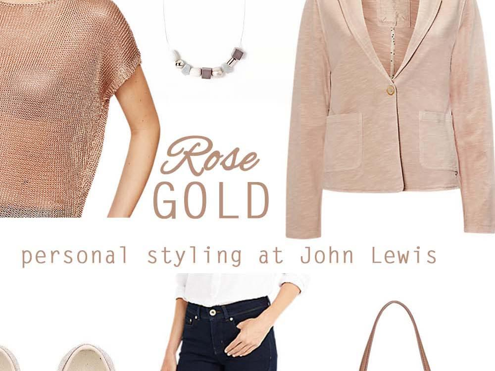 Rose Gold Styling Inspiration at John Lewis title