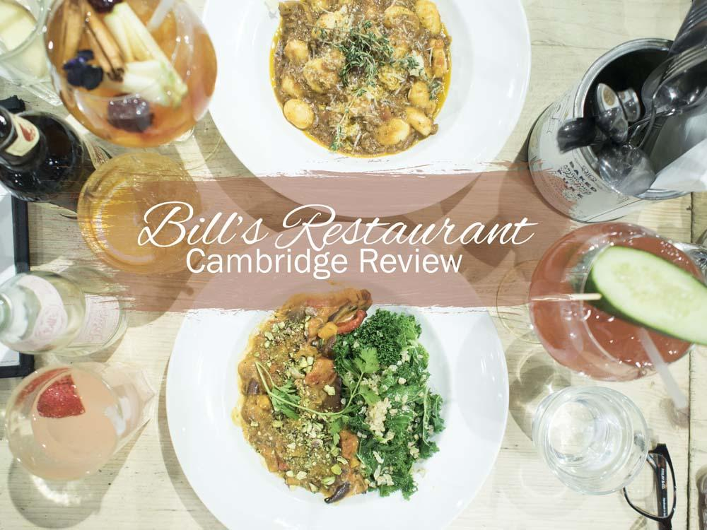 Bill's Restaurant Cambridge | A Review of the Vegan Menu