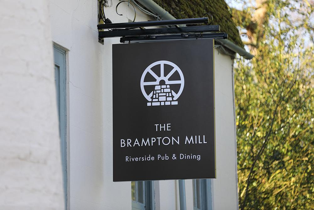 A Night at The Brampton Mill - entrance sign