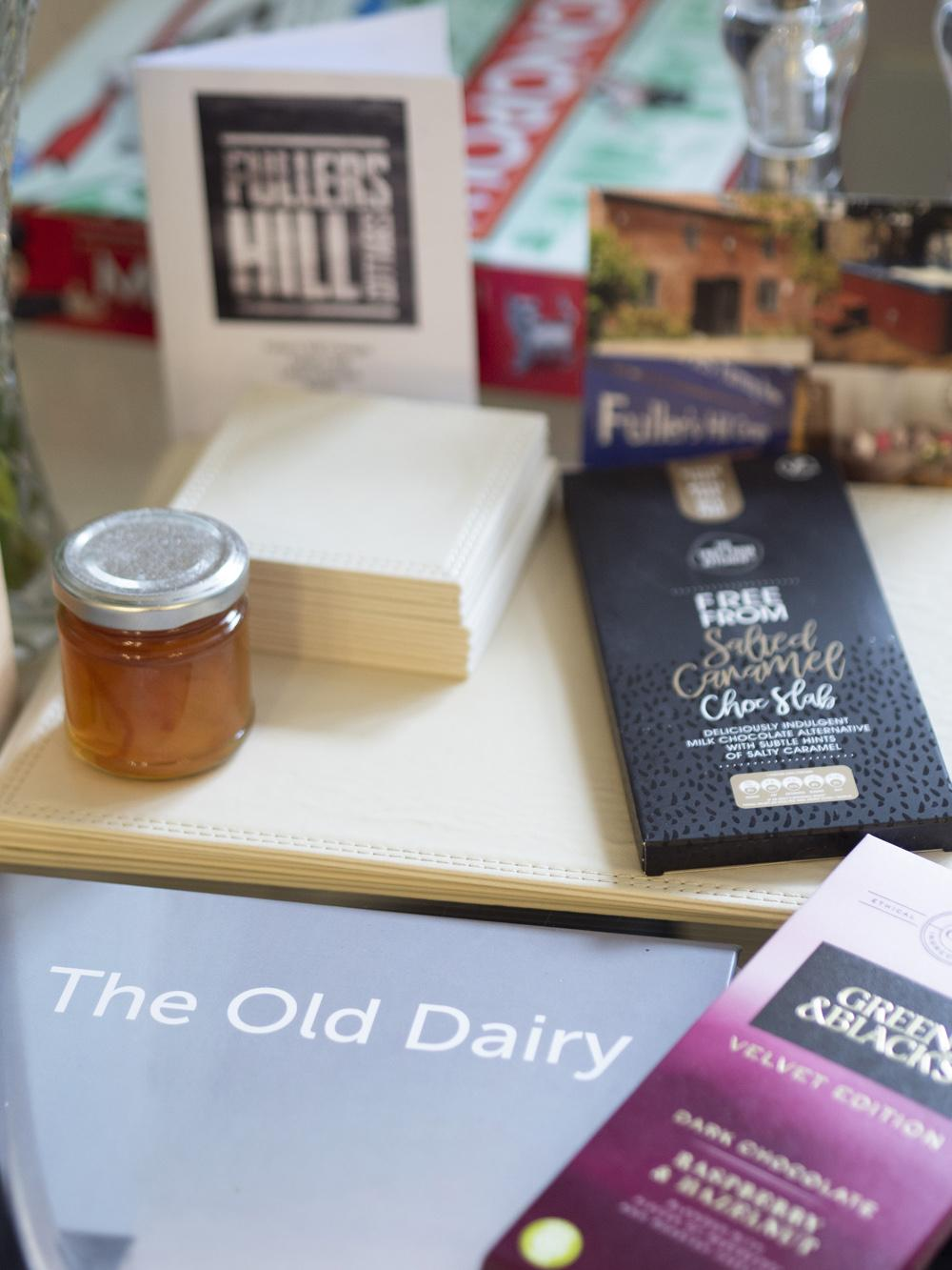 Fullers Hill Retreat - dairy free chocolate treats left in our cottage