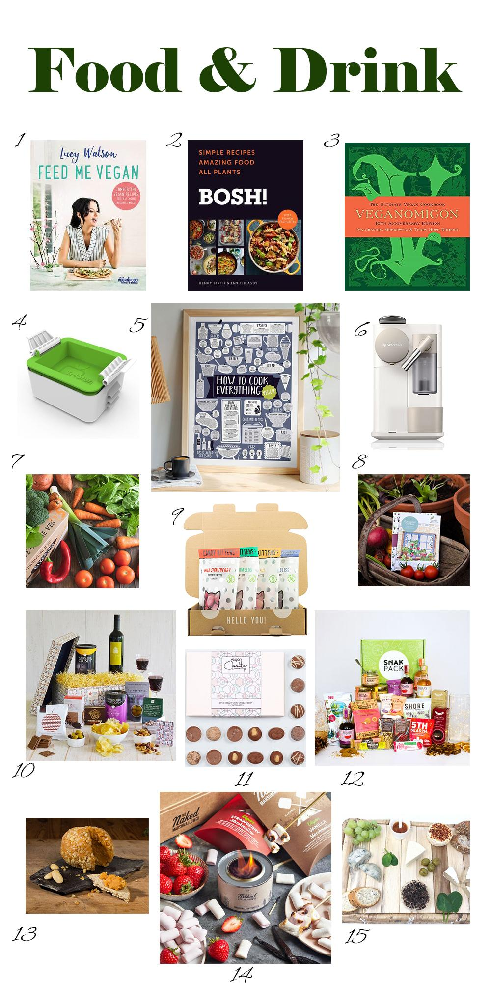 Vegan Christmas Gift Guide Food and Drink