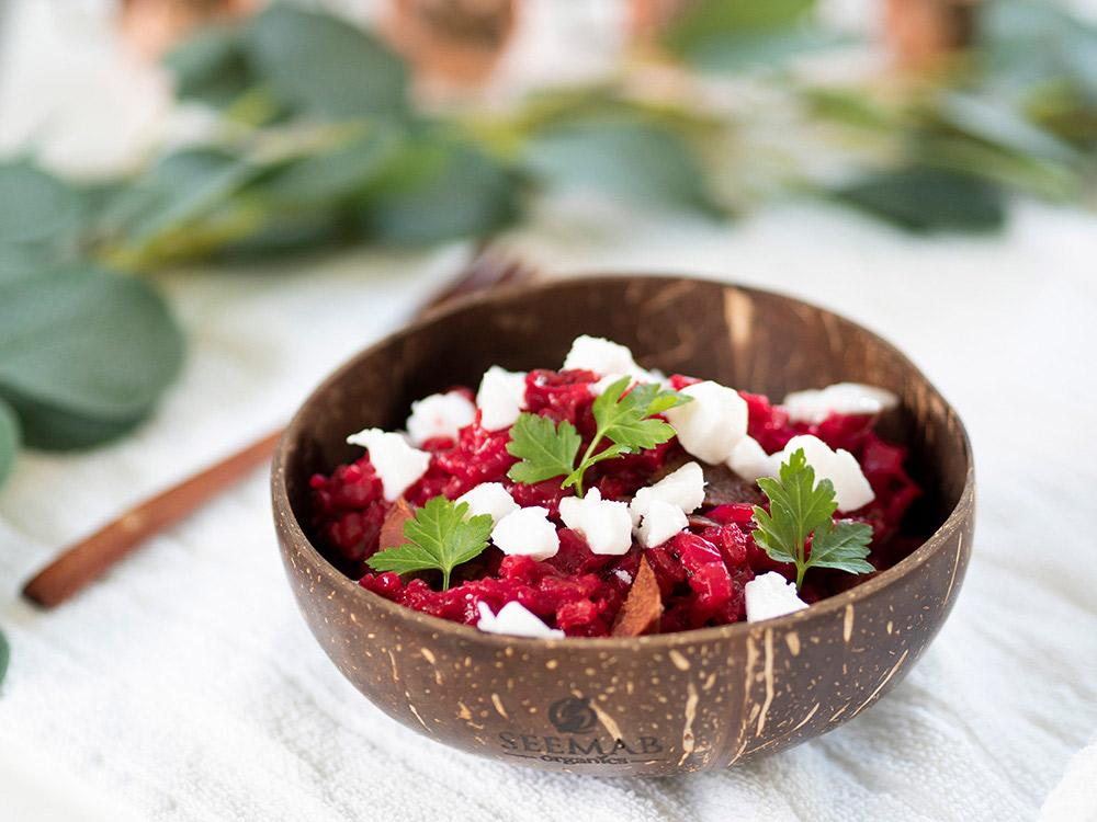 Simple but delicious quick beetroot risotto vegan